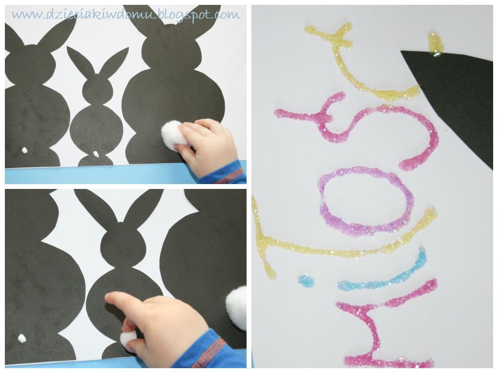 świąteczne króliki - dekoraja do powieszenia