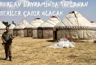 kurban derisinden çadır