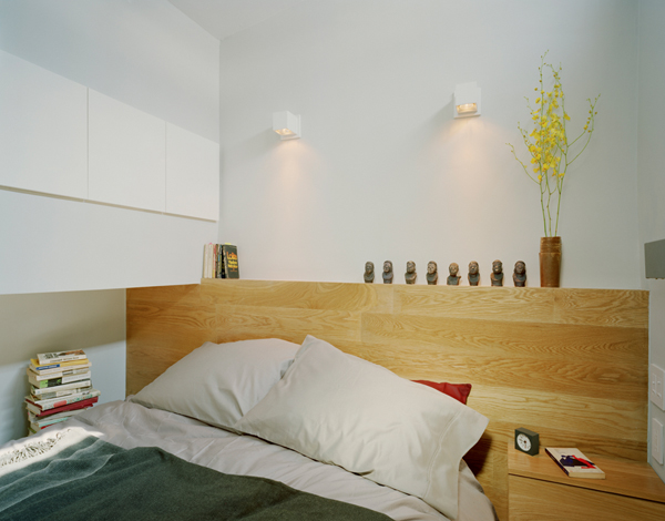 Photo of interiors of bed cabin with modern bed