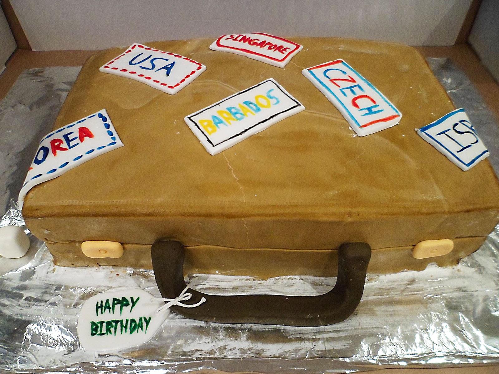 Suitcase Cake Poppas 90th Birthday