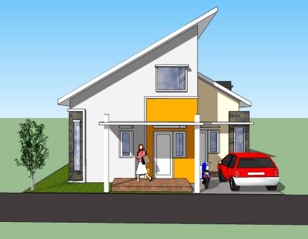 Desain Rumah Moderen Minimalis on Desain Rumah  Desain Rumah Minimalis Modern 10x15