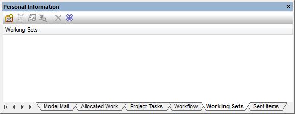 Okno Personal Information, zakładka Working Sets