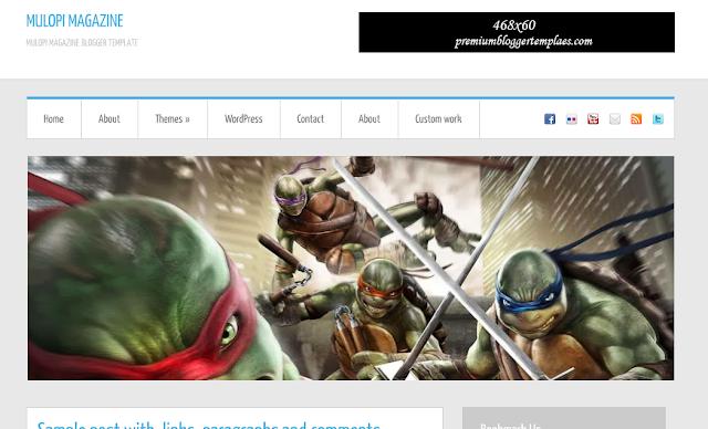 Mulopi 3D Magazine Blogger Template