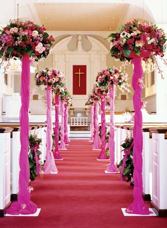 Wedding Decorations Ideas on Ceremony Decorations Should Definitely Add Some  Life In The Church Or