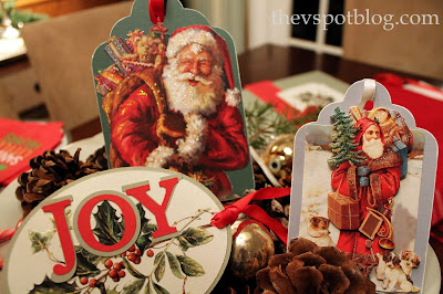 Christmas, gift tags, Christmas cards, recycle Christmas cards
