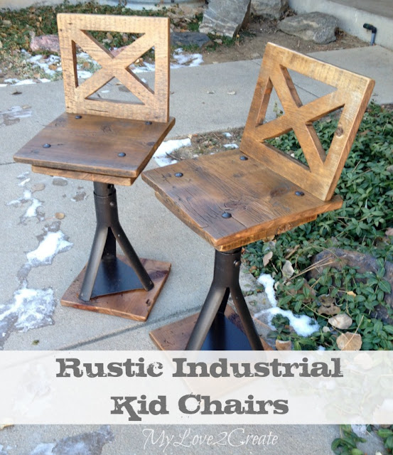 Chairs make from old car jacks