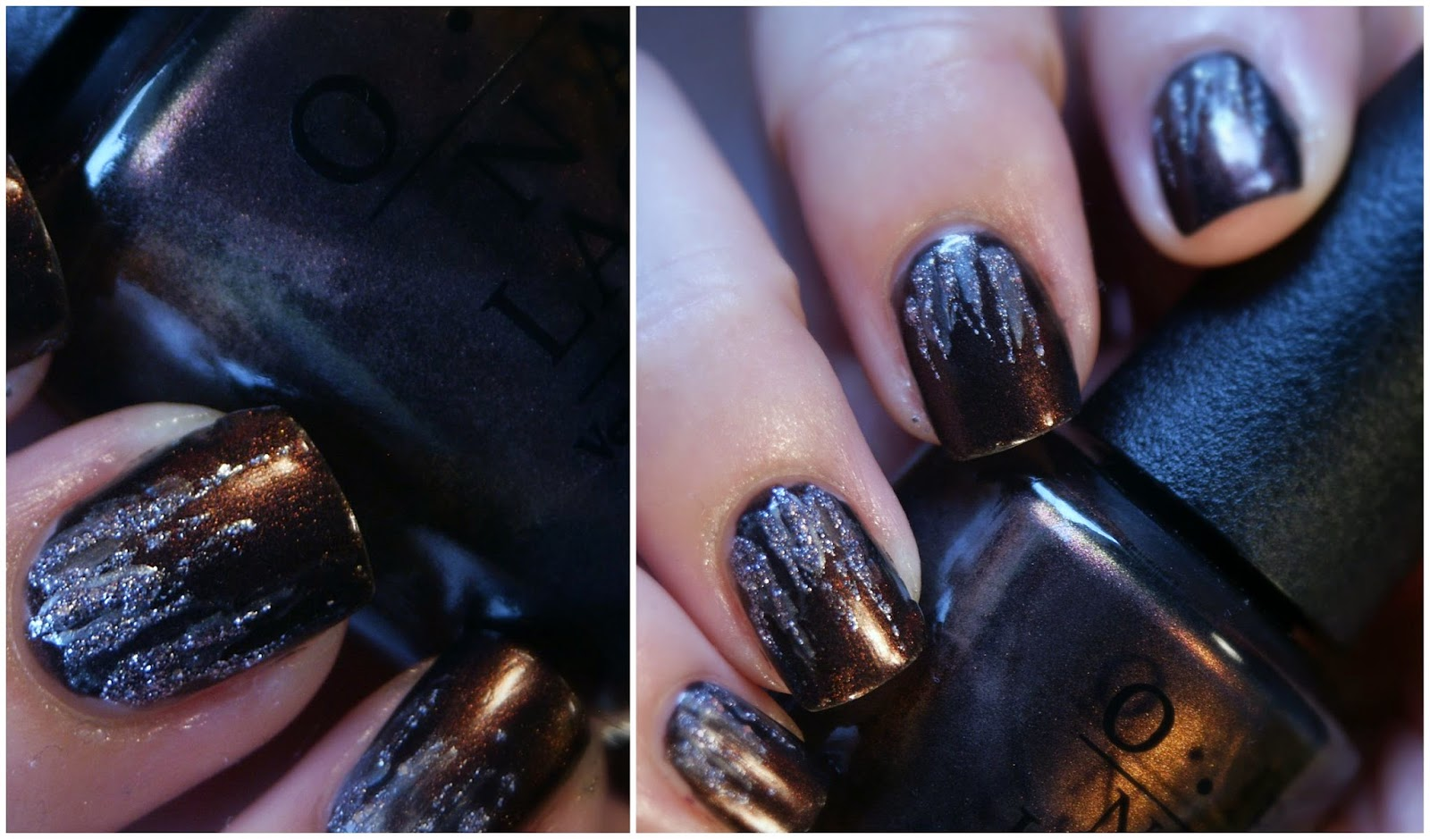 Waterfall Nail Art with OPI Muir Muir On The Wall