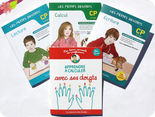 """""""Les petits devoirs"""" : Lecture, Ecriture, Calcul et """"Les bons conseils"""" : Apprendre à calculer avec ses doigts - La Librairie des Écoles"""