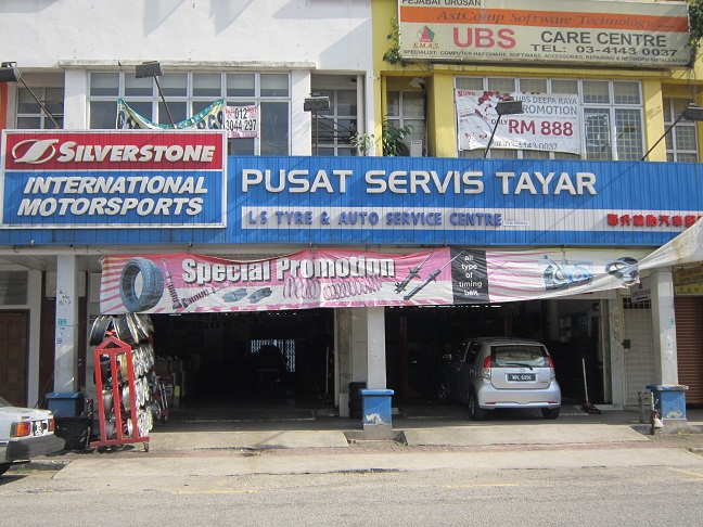 so pergi le kedai tayar yang terletak di Jalan Genting Klang, Setapak