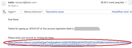 Verifikasi Email Cliponyu