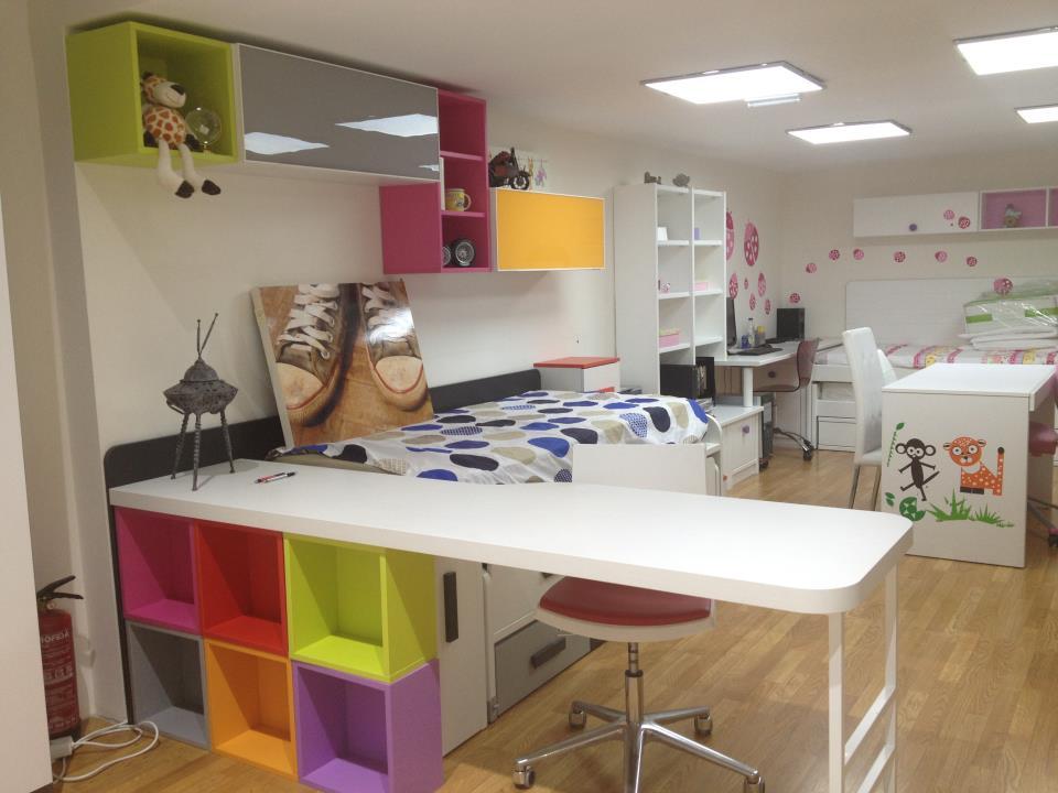 Cama tren con mesa de estudio - Mueble infantil madrid ...