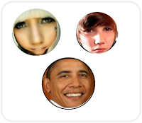 Facebook Smiley Obama Bieber Gaga