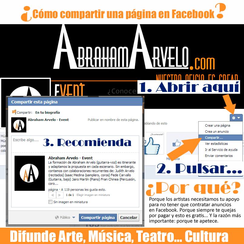 Compartir página de Facebook