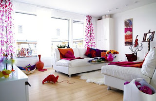Harlequin Living Room Design Interior