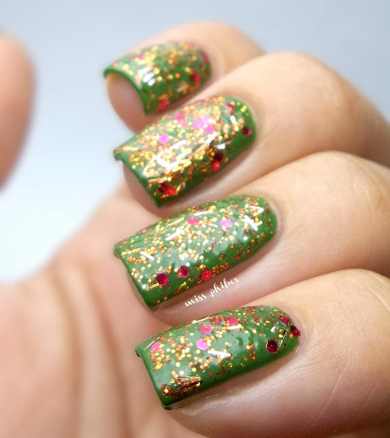 uñas navidad + christmas nails