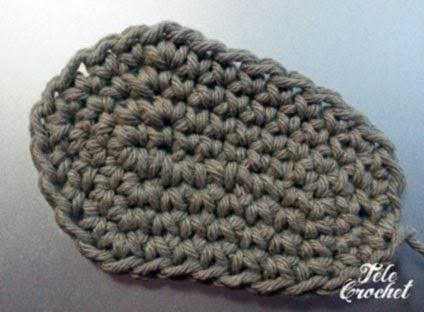 suela sandalia crochet