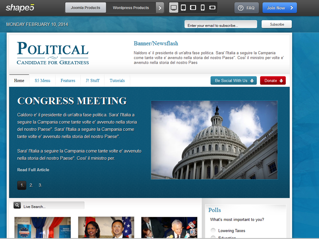 Top 5 Joomla Templates For Your Political Group Or Npo Spider Group