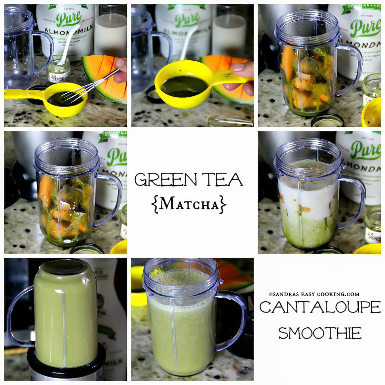 Green Tea {Matcha} & Cantaloupe Smoothie