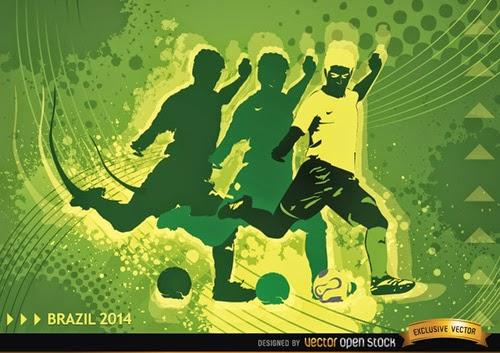 Soccer Player in Brasil 2014 Background