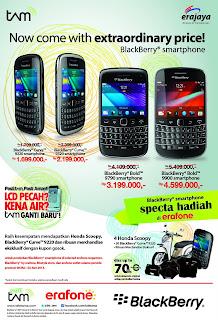BlackBerry Garansi TAM Harga Baru dan Promo