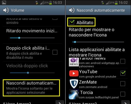 Volume Virtuale app Android app sul quale usarlo