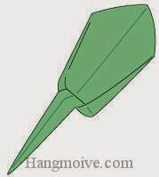 Bước 9: Hoàn thành cách xếp súng bắn đạn giấy.