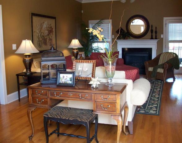 Model home decor family room.