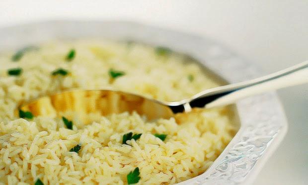 #receita de #arrozaovinhobranco
