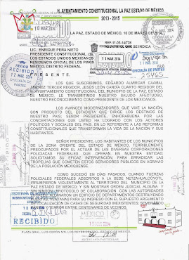 DENUNCIA DE ABUSOS DE POLICÍAS FEDERALES