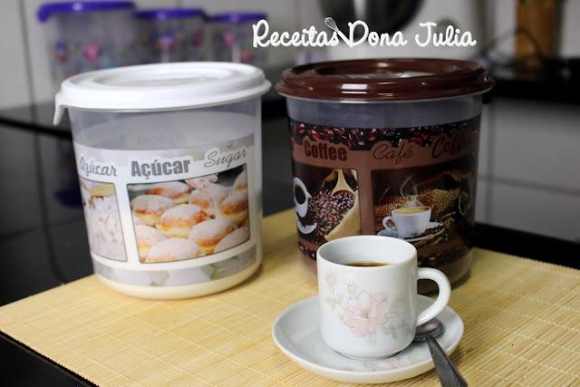 Potes de café e açúcar da linha decor plasvale