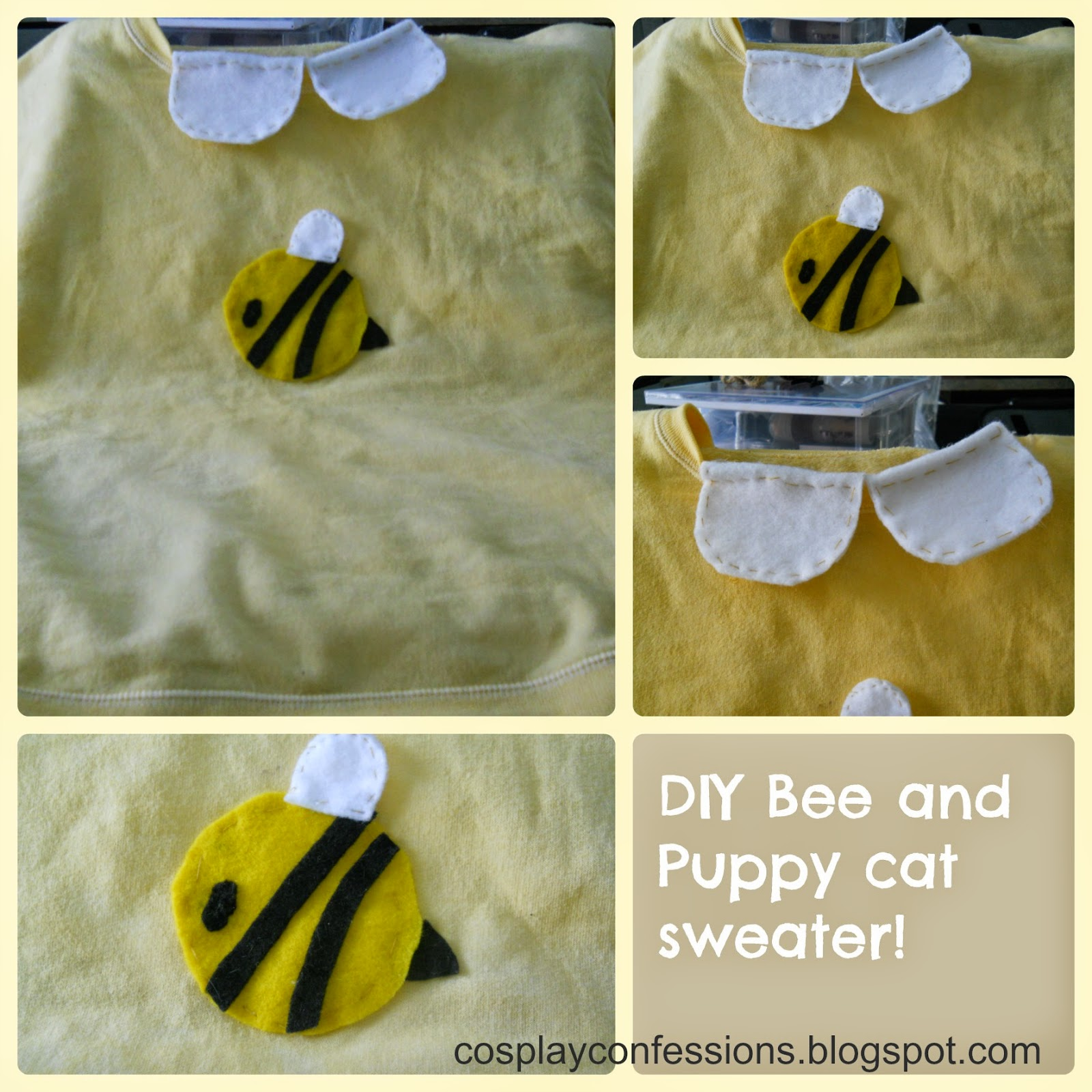Cosplay Confessions Diy Bee And Puppycat Bees Sweater