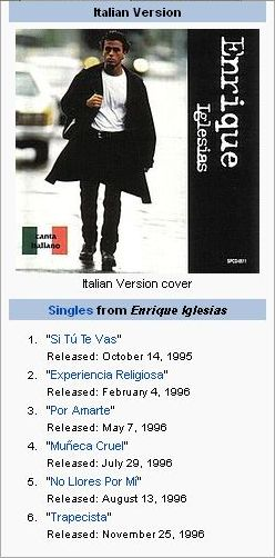 discography enrique addicts wwwenriqueaddicts