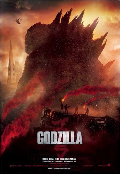 "Poster do filme ""Godzilla"""