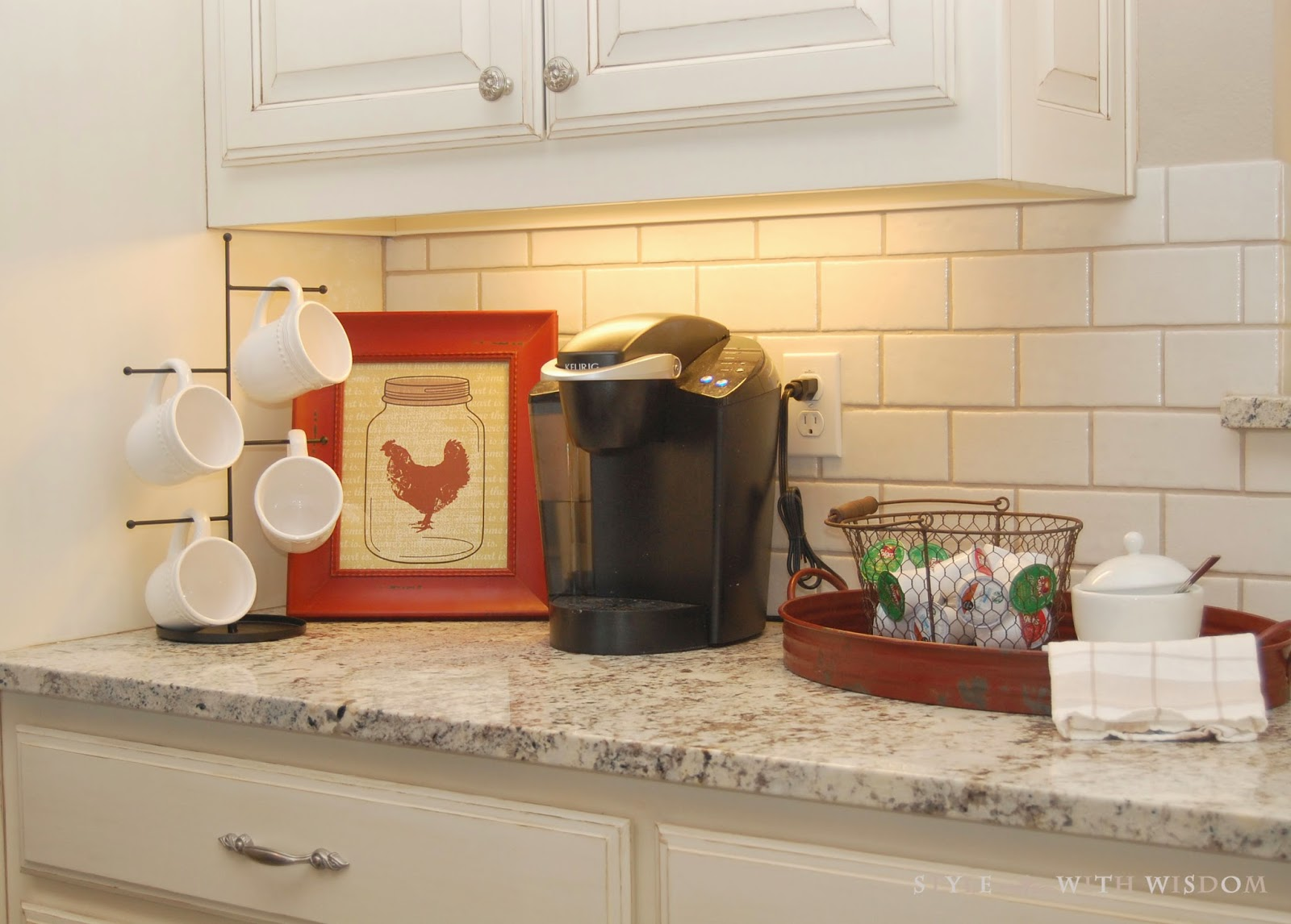 Farmhouse Decor Coffee Bar