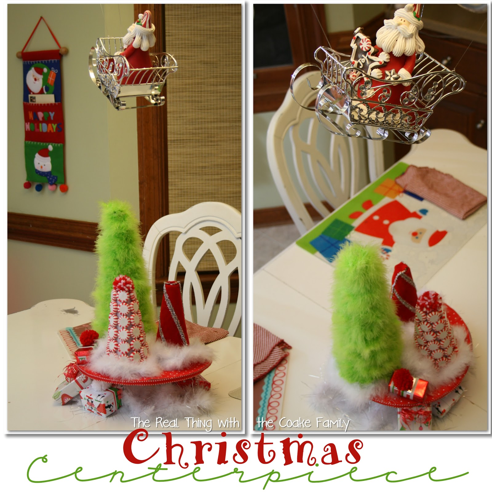 Table decorating ideas christmas centerpiece the real Small christmas centerpieces