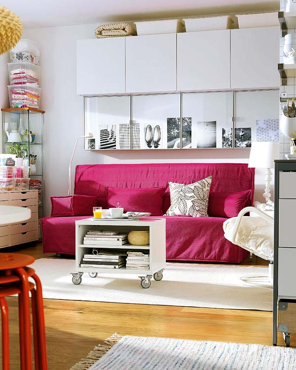 Blog de decorar sala de tv decorada com sof nico e chaise - Despacho con sofa cama ...