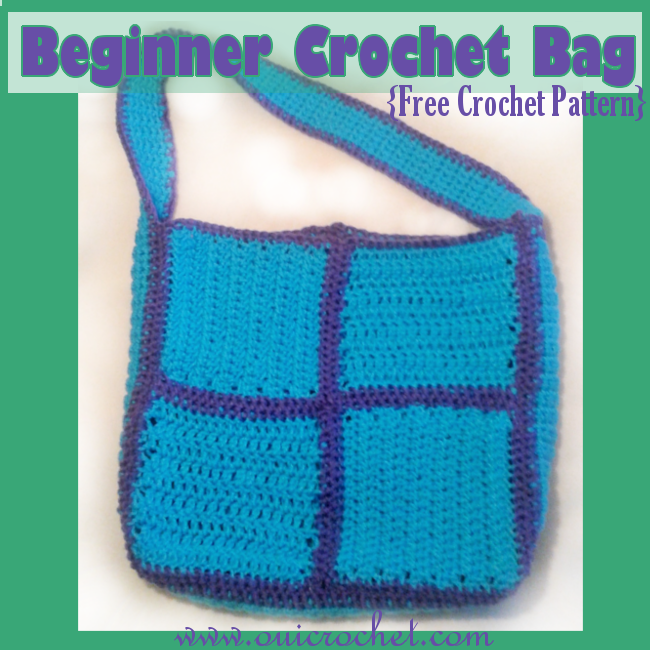 Beginners Crochet Bag Patterns : Oui Crochet: Beginner Crochet Bag {Free Crochet Pattern}
