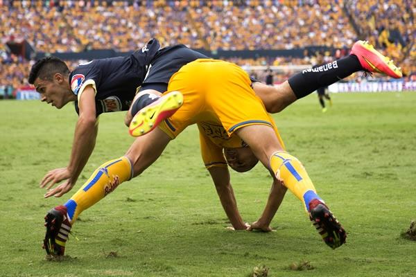 Tigres vs. América, jornada 4 del torneo Apertura 2014 del futbol mexicano Liga MX. Las Aguilas del América se imponen 0-2 ante los felinos | Ximinia
