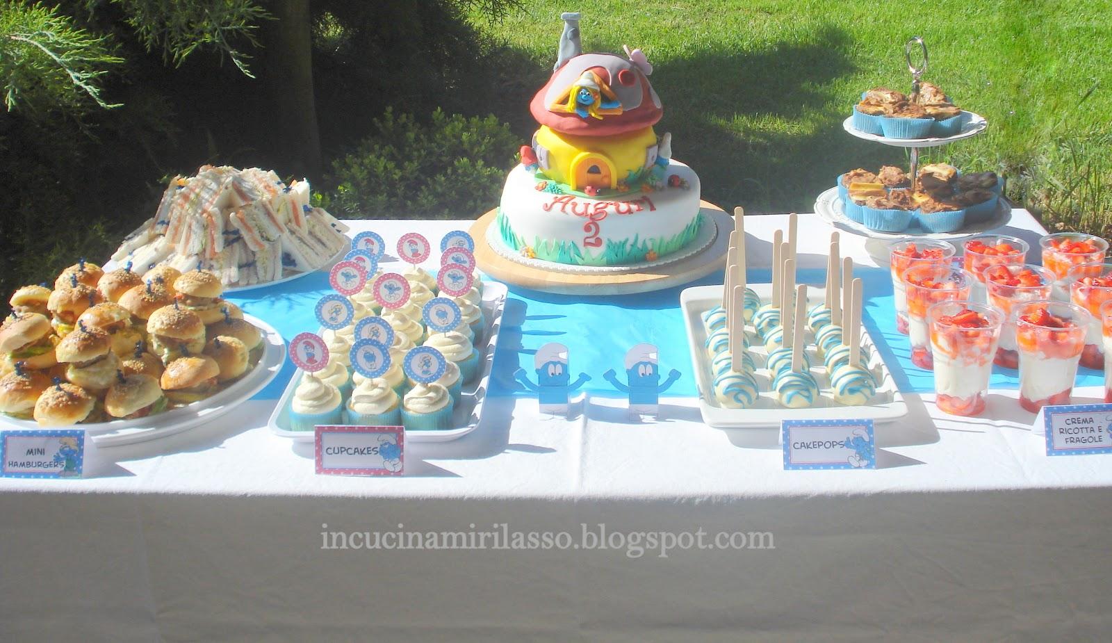 Buffet Di Dolci Per Bambini : In cucina mi rilasso torta e buffet per i due anni di nove