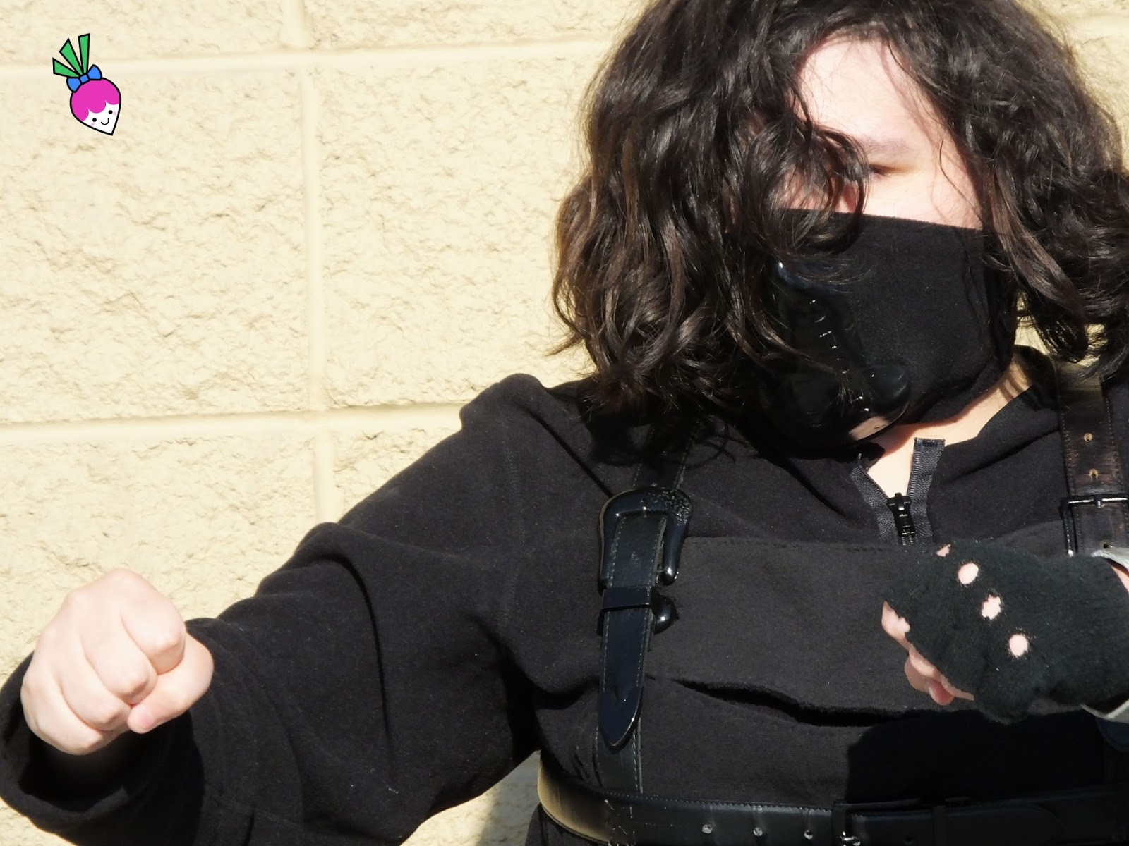 The Amazing Turnip Girl as The Winter Soldier - creative upcycled costume making