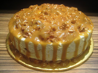 TOFFEE CARAMEL CHEESE CAKE