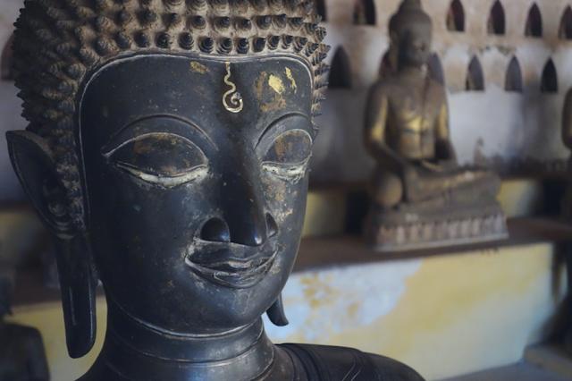 Laos, Vientiane, Wat Sisaket, Buddha