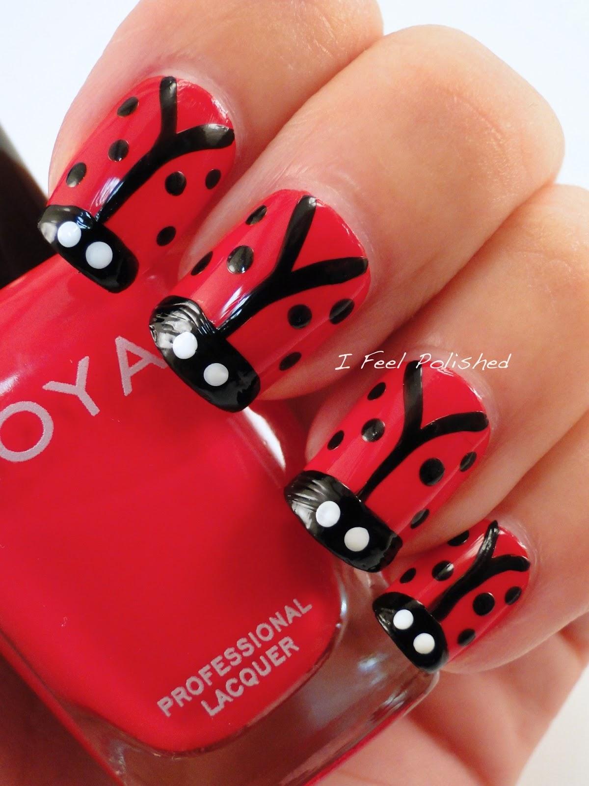 I Feel Polished!: Ladybug Nails