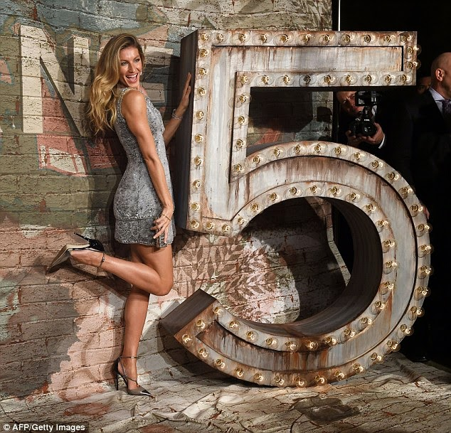 Gisele sparkles in a Chanel Couture mini dress at 'No. 5 The Film by Baz Luhrmann' launch in NYC
