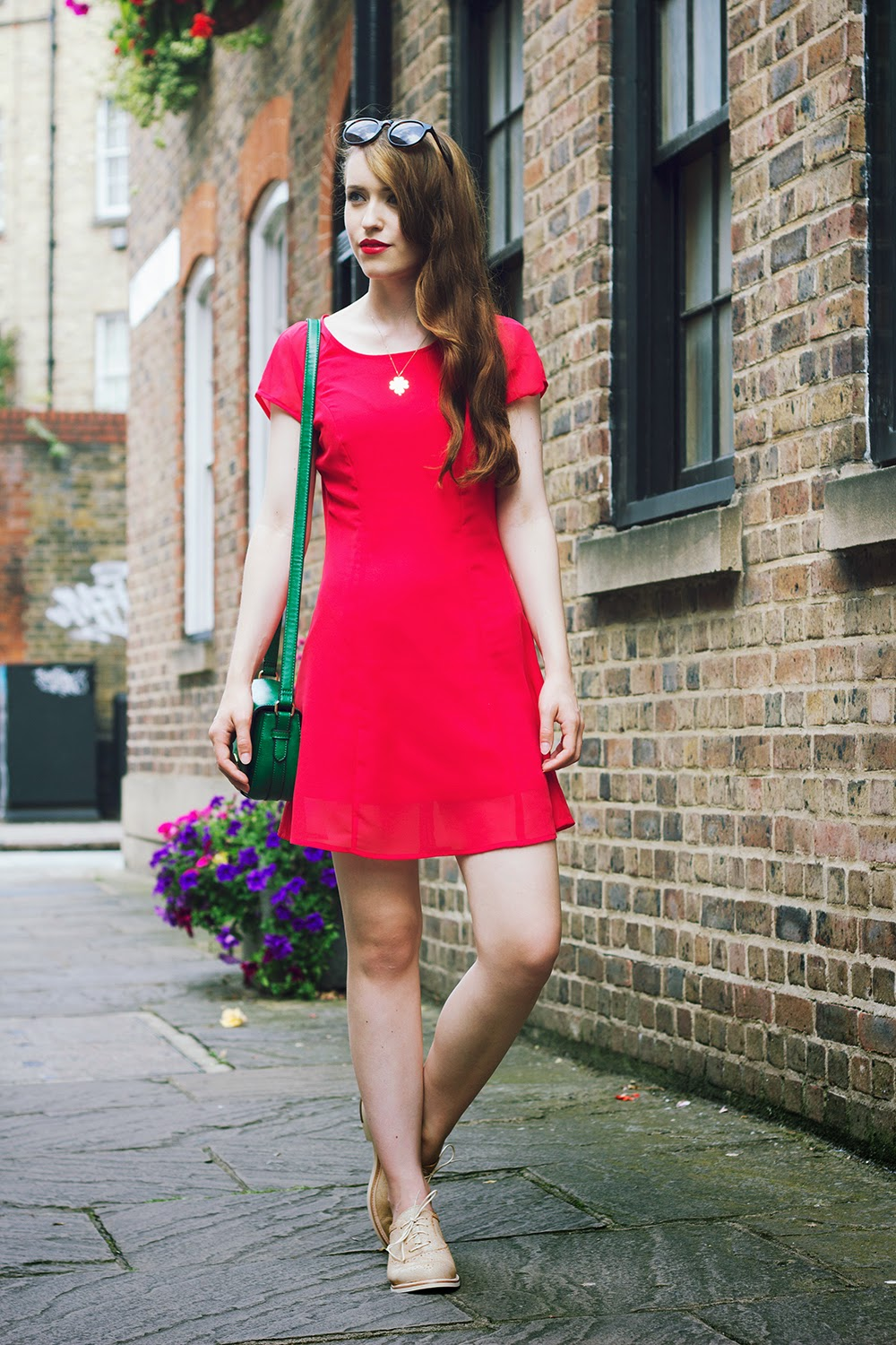 fashion blogger london red style