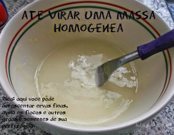 Receita fácil de pão by blog Sem H