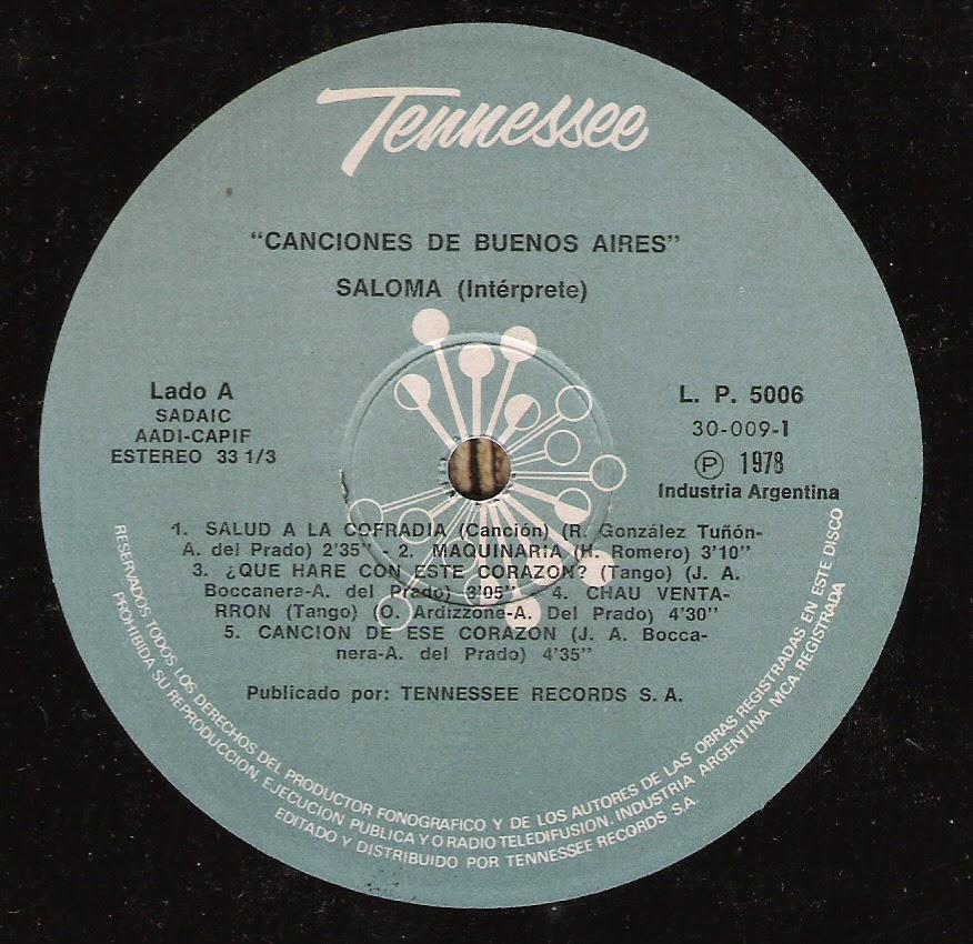 Saloma: Canciones de Buenos Aires (1978)
