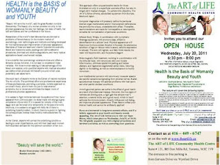 Health Is the Basis of Womanly Beauty and Youth, article The Art of Life Health Centre, Toronto