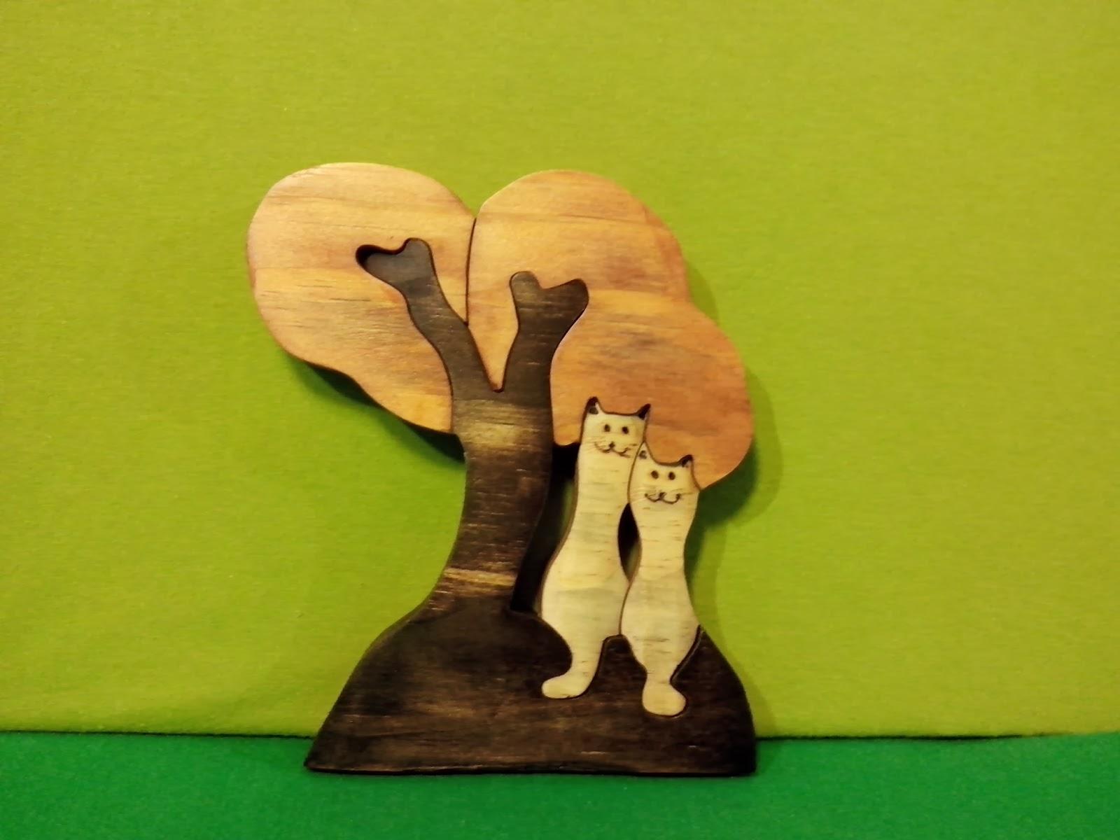 quebra cabeças gatos madeira artesanato brasilia df