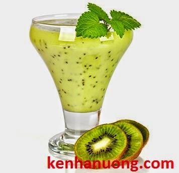 Sinh tố kiwi, nước kiwi ướp lạnh